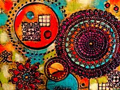 Textured Mixed Media Abstract Painting by MothersDreamRtworks, $275.00