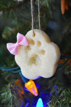 DIY Paw Print Salt Dough Ornaments - Savvy Saving Couple