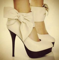 shoes with bows   Shoes: bows, heels, high heels, cute, pink - Wheretoget