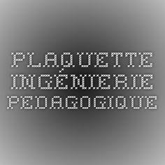 plaquette ingénierie pedagogique