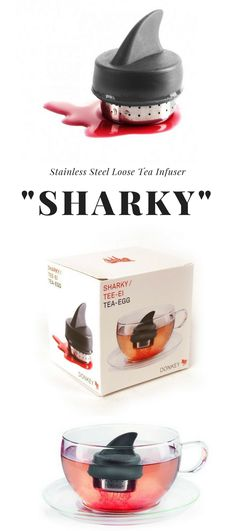 Sharky tea infuser. Not much of a tea drinker myself but would like to make some red tea with this.