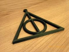 Of course, if you're determined to be recognized as a Potterhead then this symbol is the best choice for that! Perhaps you could turn this shape into a necklace to wear forever! This print from Thingiverse works perfectly.