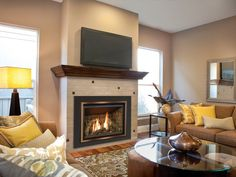 The Chaska 34 gas fireplace insert comes standard with an Electronic Ignition Pilot System and brick refractory. has an impressive viewing area of 26-1/8″ x 12-7/8″.