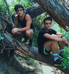 """Ethan Dolan ✨: """"Went on a hike with our mom today lol she took this photo"""""""