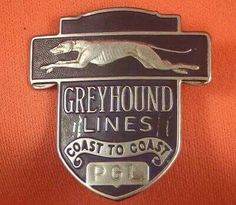 Vintage Greyhound Bus Lines PGL Coast to Coast Metal Badge Emblem Pin Screwback Bus City, Skinny Dog, Greyhound Art, Busa, Bus Coach, Bus Travel, Bus Station, Commercial Vehicle, My Ride