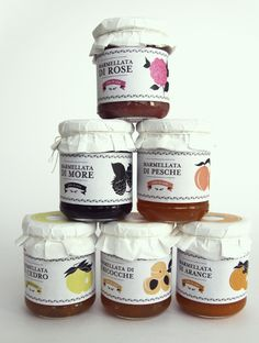 Jams and Marmalades by Dry Design , via Behance in yummy #packaging PD