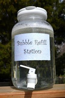 bubble refill station - great idea!!