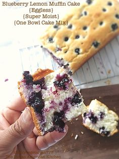 Blueberry Lemon Muffin Cake - Eggless, Super Moist & One Bowl Cake Mix Mixed Berry Muffins, Easy Blueberry Muffins, Lemon Muffins, Blueberry Recipes, Blueberry Cake, Eggless Desserts, Eggless Baking, Eggless Recipes, Cooking Recipes