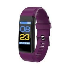 Bluetooth Fitness Tracker USB Smartband Color Screen Heart Rate Monitor Smart Bracelet Sport Wristband (Purple), Coutlet