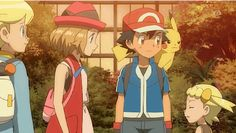 Aww ^_^ ^.^ ♡ Ash and Pikachu with their Kalos friends ^.^ ♡