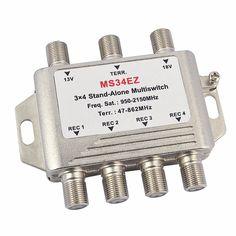 2016 MultiSwitch lnb Satellite Splitter FTA TV LNB Multi Switch Cascade Sate llite 3 in 4 Out Multiswitch For DVB-S2 DVB-T2