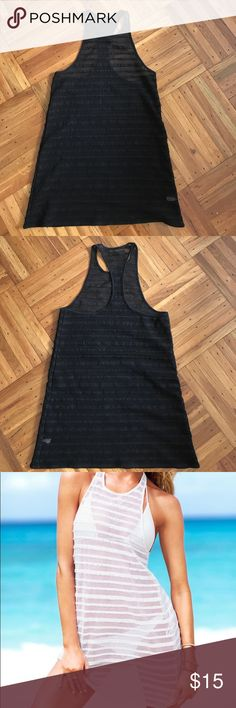 Victoria's Secret Mesh Cover Up- black 95% polyester, 5% elastane. Black mesh bathing suit cover up. Victoria's Secret Swim Coverups