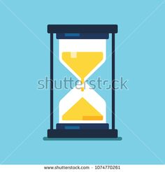 Hourglass icon. Modern flat style vector illustration.