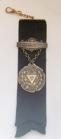 Ornate Antique Victorian Sterling Silver YMCA Gymnastics