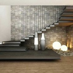 """"" 56 Best Contemporary Stairs Idea For Modern And Fancy Houses """" Maravillosas escaleras flotantes """" Home Stairs Design, Interior Stairs, Modern House Design, Modern Interior Design, Stair Design, Staircase Design Modern, Modern Railings For Stairs, Railing Design, Home Interior"