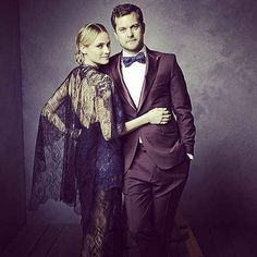 Diane Kruger and Joshua Jackson - Mark Seliger's Portrait Studio at the Vanity Fair 2014 Oscar Party Celebrity Portraits, Celebrity Couples, Celebrity Style, Celebrity Babies, Couple Posing, Couple Portraits, Diane Kruger Joshua Jackson, Josh Jackson, Couple Photography