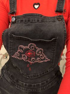 Embroidered some thrift store overalls! : crafts Embroidered some thrift store overalls! Diy Fashion, Ideias Fashion, Fashion Outfits, Womens Fashion, Fashion Design, Street Style Vintage, Mode Vintage, Custom Clothes, Diy Clothes