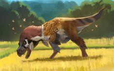 Prehistoric Wildlife, Prehistoric Creatures, Fantasy Creatures, Mythical Creatures, Curious Creatures, Creature Concept Art, Extinct Animals, Dinosaur Art, Colorful Animals