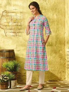 kurtis collection 2020 buy designer kurtis online in india Printed Kurti Designs, Silk Kurti Designs, Kurta Designs Women, Dress Indian Style, Indian Fashion Dresses, Cotton Kurties, Designer Kurtis Online, Designer Formal Dresses, Pakistani Fashion Party Wear