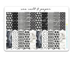 ♥ A large kit of page flags (Target Dollar Spot Size) - suitable for all planners.  Collection: Monochrome Sheet size: 11.5 x 17 cm Qty: 20