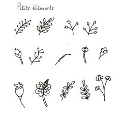 Outline, Ibiza Style, Watercolor, Flowers, Image, Art, Canvas Patterns, Print Patterns, Pocket Charts