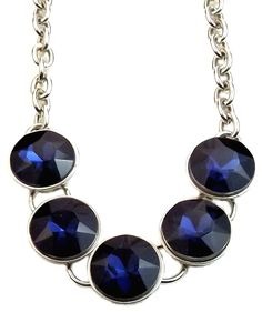 Redefine your style with this bold and beautiful blue stone statement #designernecklaces. A hint of magic makes this necklace so special. Crafted in 925 sterling silver and mixed metal. Shop now: https://www.noblag.com/925-sterling-silver-statement-necklace-round-cut-blue-gemstone.html