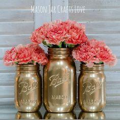 Painted Mason Jars DIY