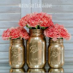 Painted Mason Jars DIY