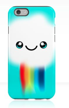 Original design by OHKISSA. Happy Kawaii Rainbow Cloud. iPhone case. Also available as poster, totes and T-shirts. Great for Christmas present, birthdays and just for yourself.