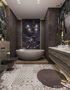 Bathroom Design Luxury, Modern Bathroom Design, Luxury Interior Design, Bathroom Designs, Studio Apartment Decorating, Apartment Interior Design, Apartment Layout, Decorating Blogs, Apartment Living