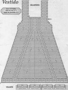 Vestidos em Croche   bebê em croche      O vestido  em croche foi encontrado na web sem nome  ou link mas   carrega o gráfico junto com um...