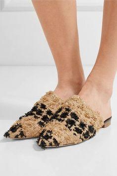 3f5dd56f87a8 Rupert Sanderson - Rippling woven raffia slippers