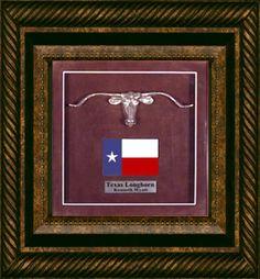 Texas Longhorn Shadow Box