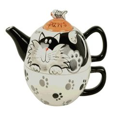 Cat Paws tea for one