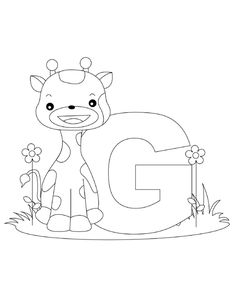 Printable Animal Alphabet Worksheets Letter G Is For Giraffe   Printable Coloring  Pages For Kids