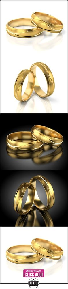 Anillos De Boda Oro amarillo 585_S-718  ✿ Joyas para hombres especiales - lujo ✿ ▬► Ver oferta: https://comprar.io/goto/B00L2RN3BS