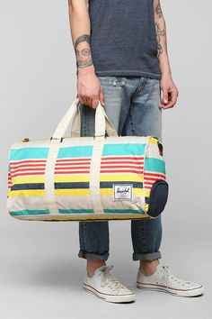 Herschel Supply Co. Novel Malibu Stripe Weekender Duffle Bag - Urban Outfitters