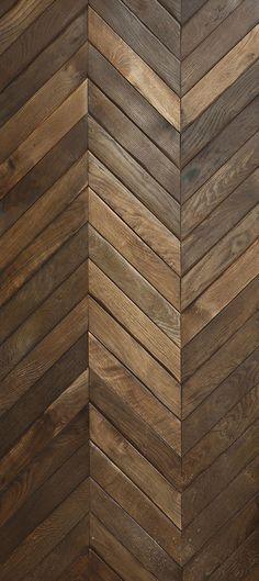 RECLAIMED FRENCH Oak in large #Chevron pattern.