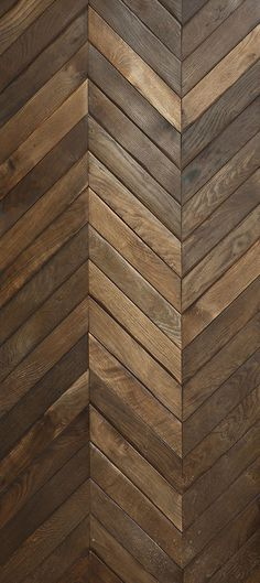 RECLAIMED FRENCH Oak in large #Chevron pattern.