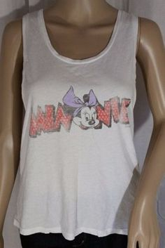 03129b927d929 Junk Food Clothing Disney Minnie Mouse Loose Fit Tank - S