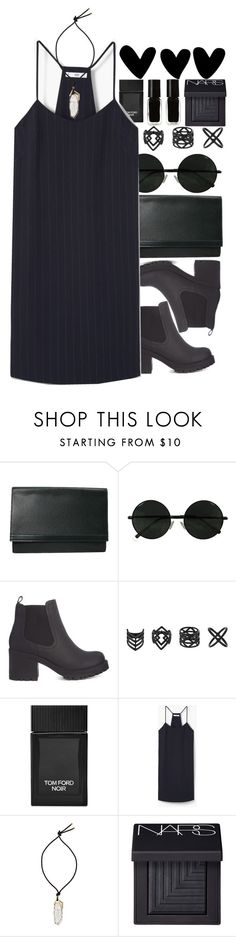 """Untitled #277"" by monicanne ❤ liked on Polyvore featuring Louis Vuitton, Topshop, Tom Ford, MANGO, Lanvin, NARS Cosmetics and The New Black"