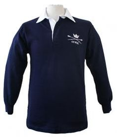 OUWBC Unisex Rugby Shirt Featuring the OUWBC (Oxford University Women's Boat Club) logo on the front our classic fit, navy rugby shirt is an essential item for any team supporter.
