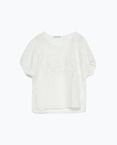 Image 9 of EMBROIDERED T-SHIRT from Zara