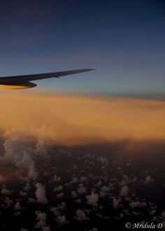 Picture of dusk from a Boeing 777