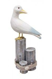Mouette en Bois Déco Thème Mer pour Décoration de table ambiance marine - Mariage Cérémonie