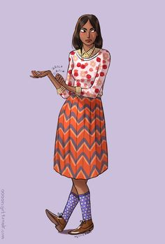 Illustrated fashion faux pas for women by women.