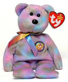 GARCIA the Tie-dyed Bear NM//Mint Series 1 Common TY Beanie Babies BBOC Card