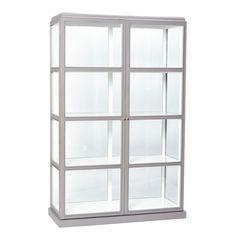 Hübsch vitrinkast grijs/wit 186 x 110 cm 914
