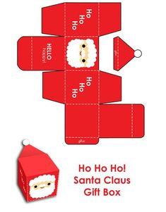 6 Best Images of Christmas Santa Printable Paper Box Templates - Free Printable Christmas Box Template, Printable Santa Christmas Crafts and Printable Christmas Gift Box Template Merry Christmas Santa, Christmas Tree With Gifts, Christmas Candy, All Things Christmas, Christmas Holidays, Christmas Boxes, Christmas Gift Box Template, Merry Xmas, Christmas Decorations