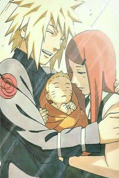So cute... Minato, Naruto y Kushina